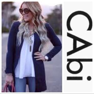 CAbi Lido Button Up Long Jacket #5093 in Navy